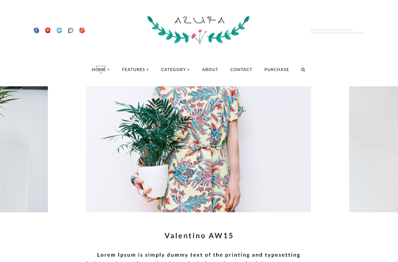 azura wordpress theme