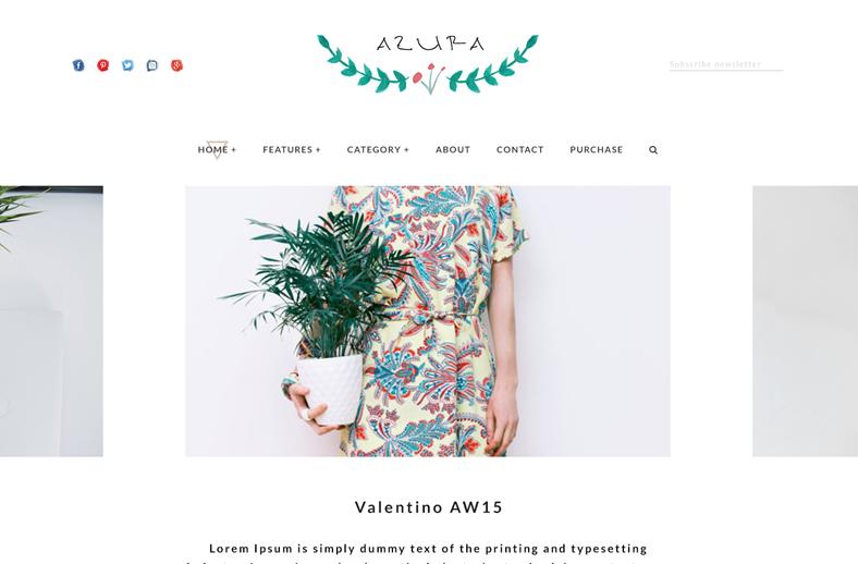 azura wordpress theme