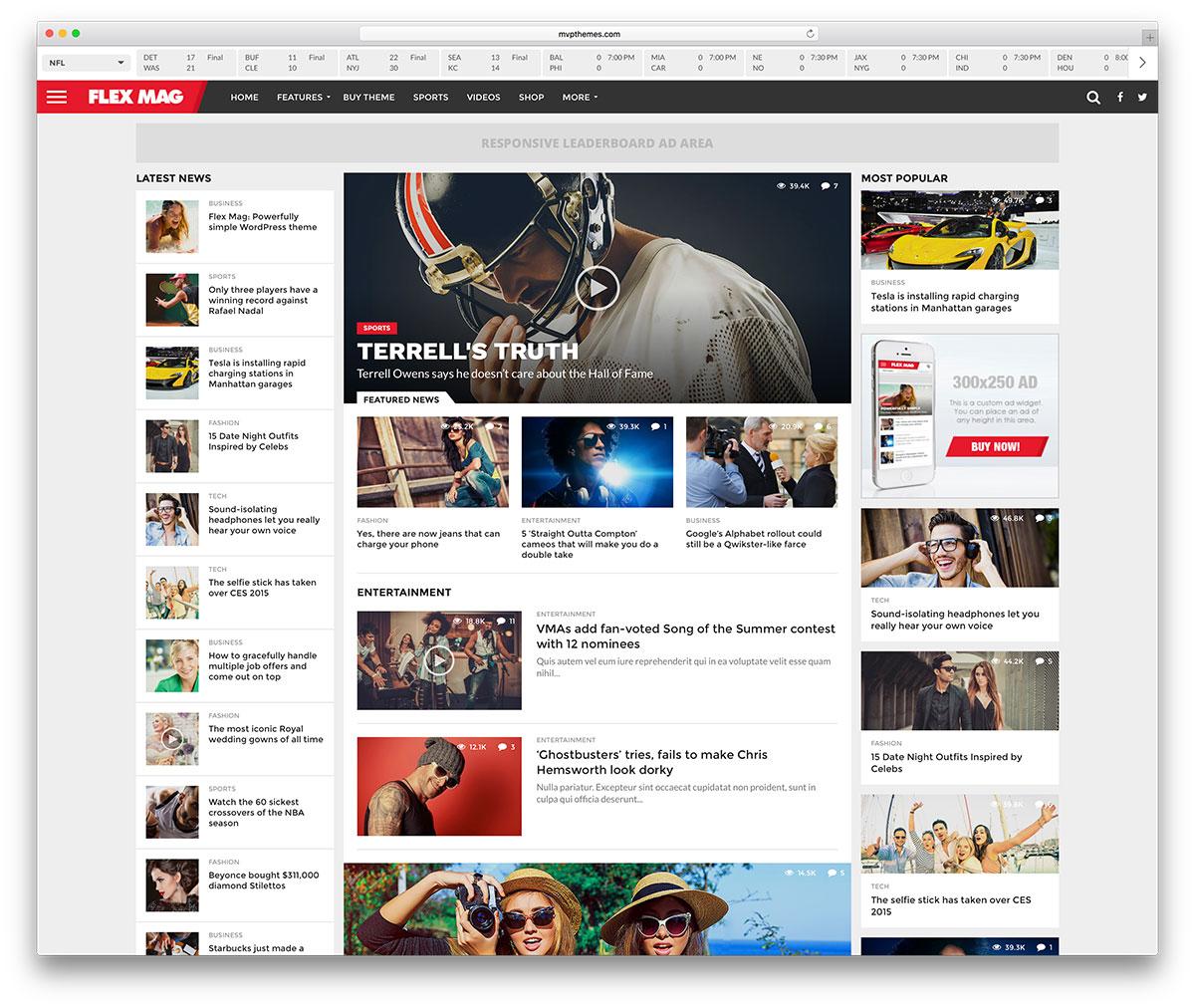 40 Best Newsmagazine Wordpress Themes For 2016