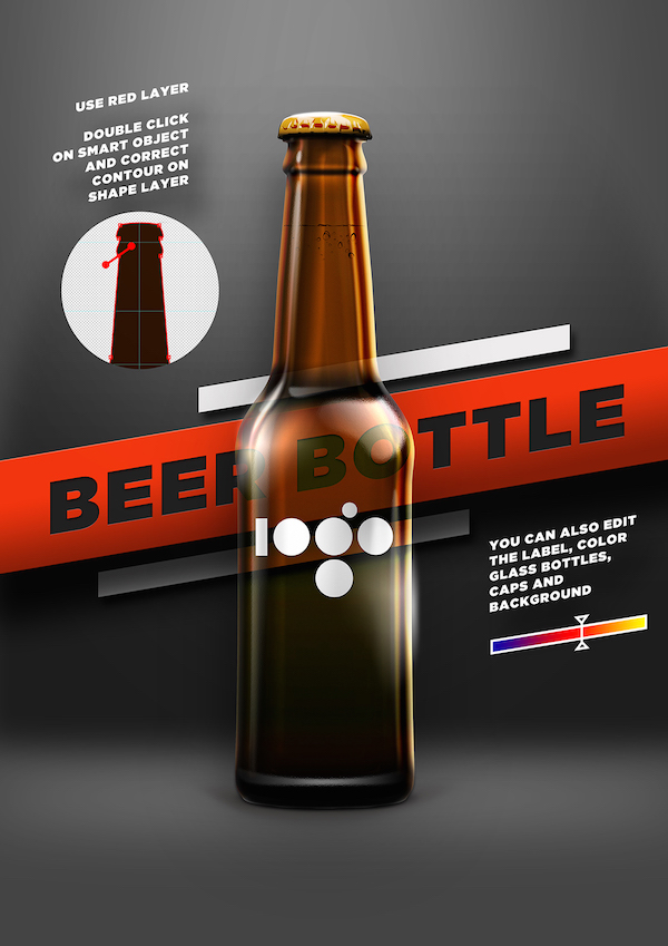 BEER SHAPE BOTTLE MOCK-UP