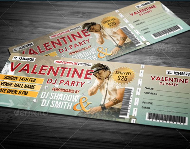 20 best event concert ticket psd templates