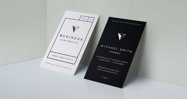 Business Card Mock Up PSD