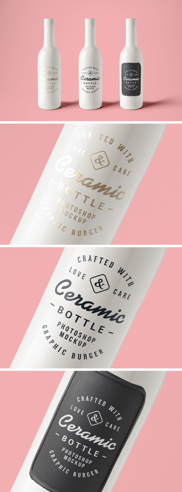 CERAMIC BOTTLES PSD MOCKUP