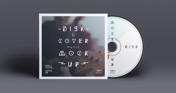 DISK COVER MOCKUP PSD