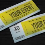 event ticket psd template