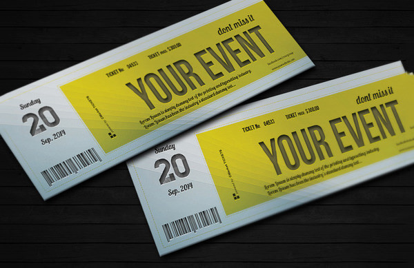 20 Best EventConcert Ticket PSD Templates – Event Ticket Template