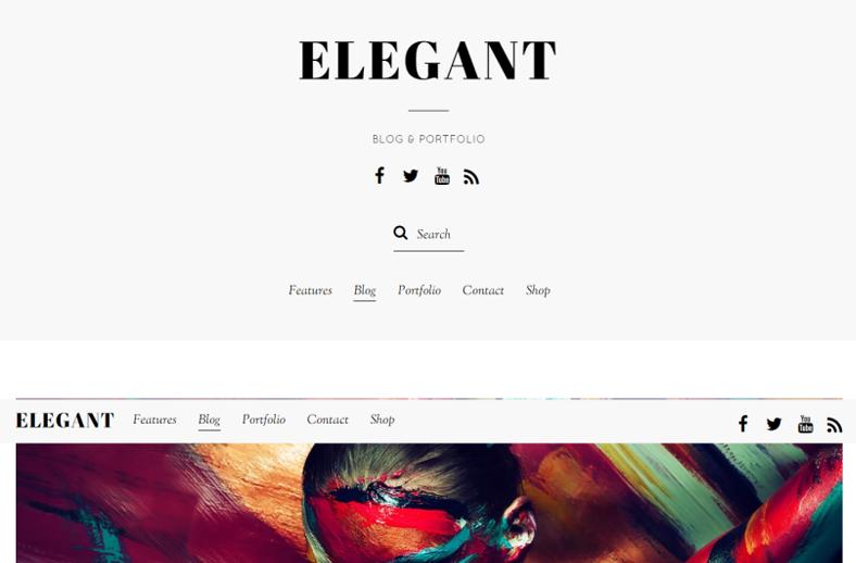 Elegant - Minimal Blog & Portfolio WordPress Theme