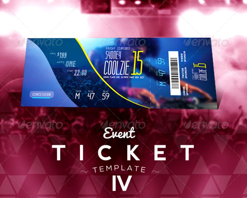 Event Ticket Template Free from psdtemplates.com
