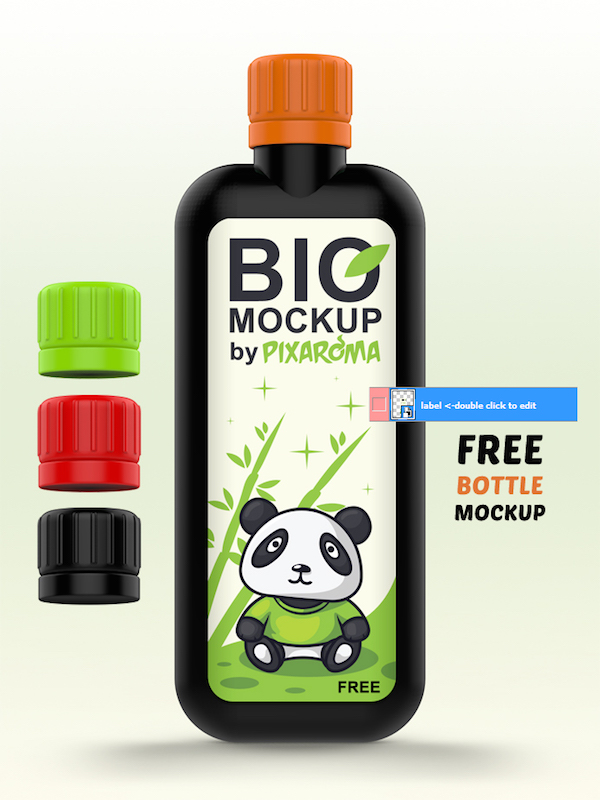 FREE BIO BOTTLE MOCKUP PSD
