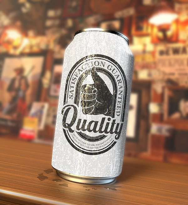 FREE PHOTOREALISTIC SODA CAN PSD MOCKUP