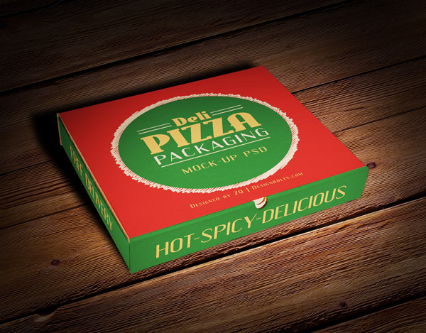 FREE PIZZA BOX PACKAGING MOCKUP PSD FILE
