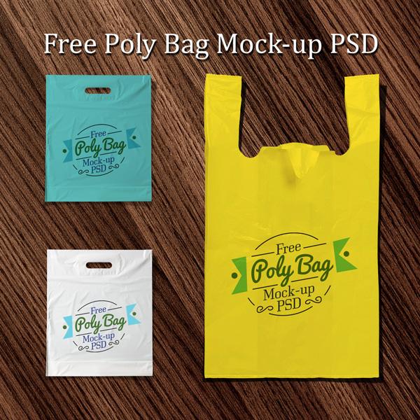 FREE PLASTIC POLY BAG MOCKUP PSD