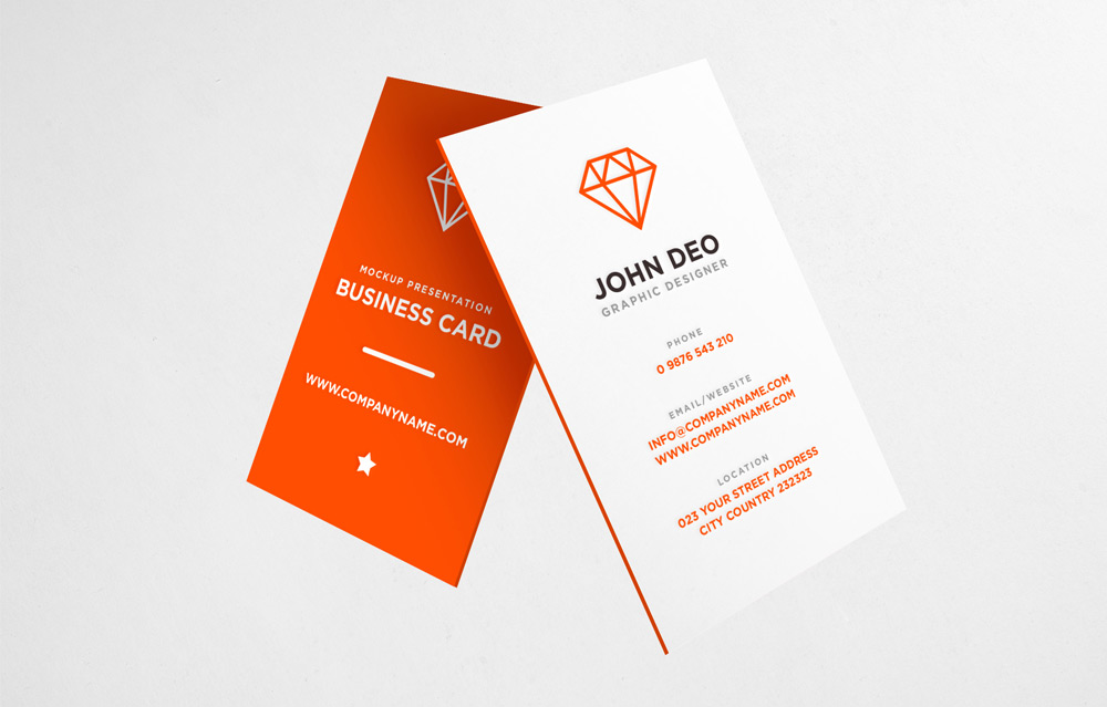 25 free vertical business card mockups psd templates free business card mockup psd reheart Images
