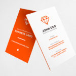 25+ Free Vertical Business Card Mockups PSD Templates