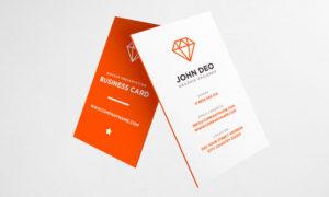 vertical business card psd templates
