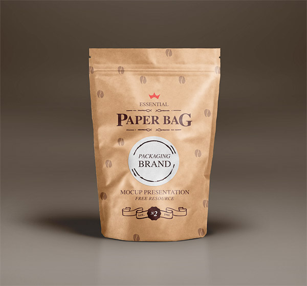 PSD PAPER BAG MOCK-UP TEMPLATE