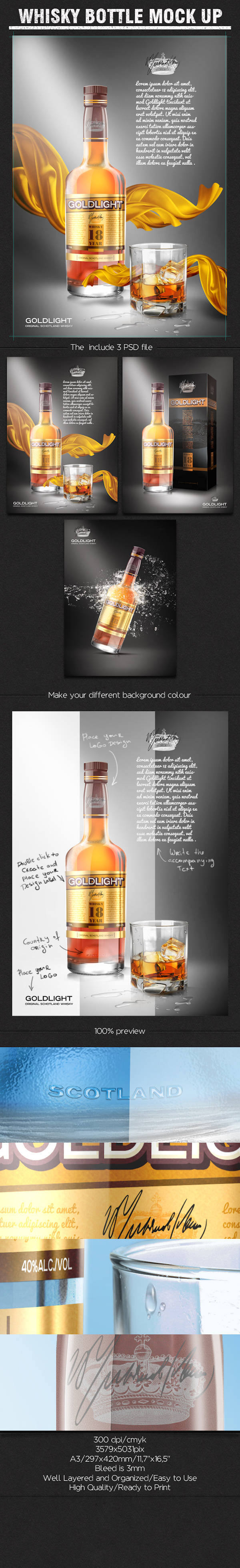 WHISKY BOTTLE MOCK-UP