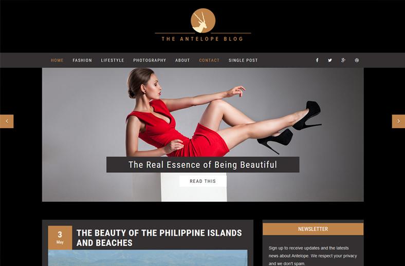 Antelope Minimal WordPress Blog