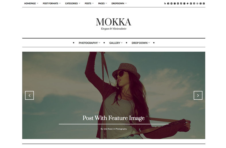 Mokka - Minimal & Elegant WordPress Blog