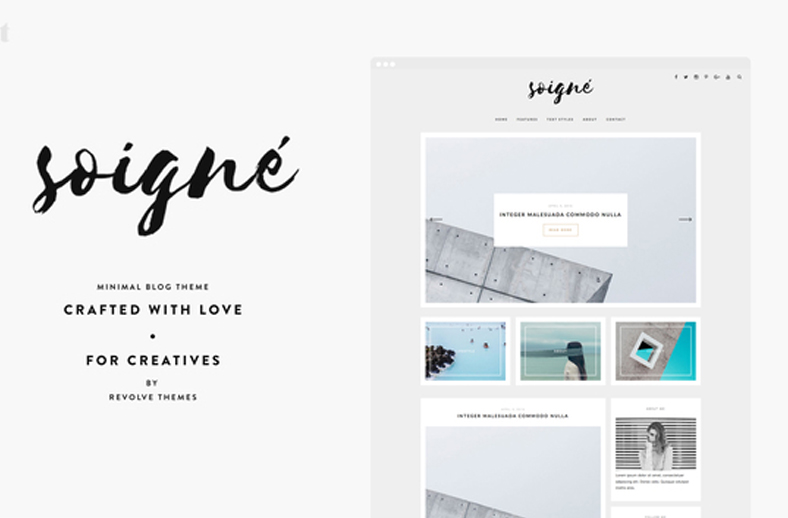 Soigne - A Minimal WordPress Blog Theme