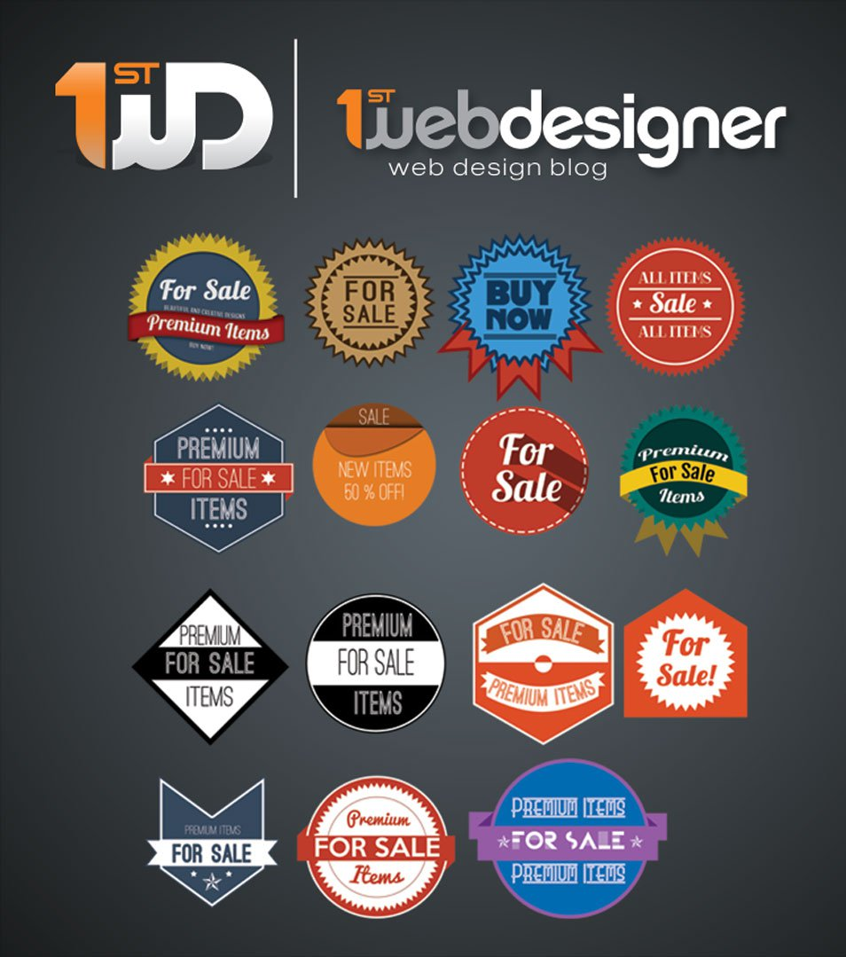 15 Beautiful PSD Badges For Free