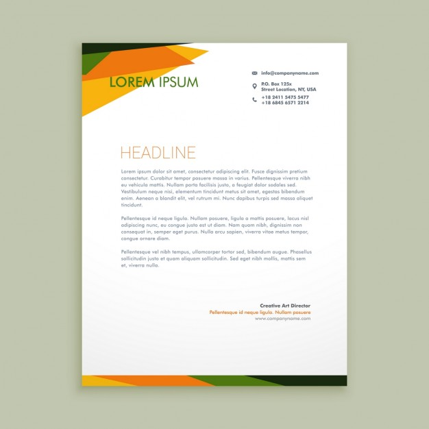Abstract Creative Letterhead