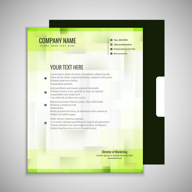 Abstract Green Business Brochure