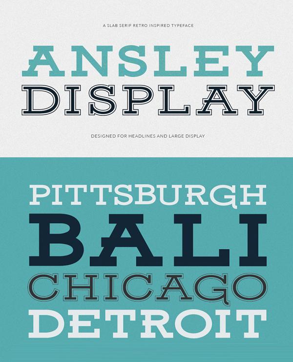 Ansley Display Free Font