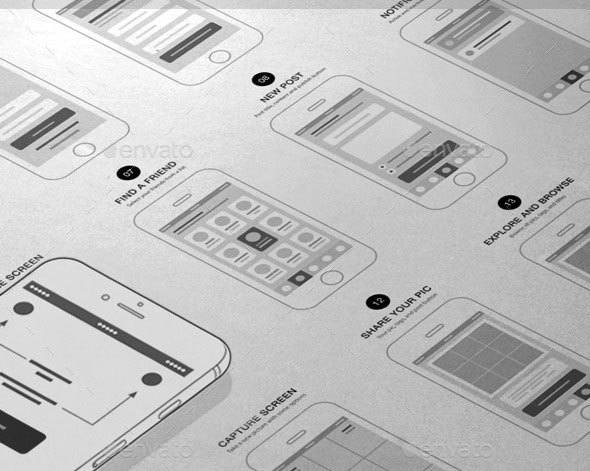 App Wireframes UI Kit