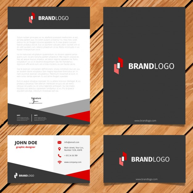 Black And Red Corporate Stationery Design