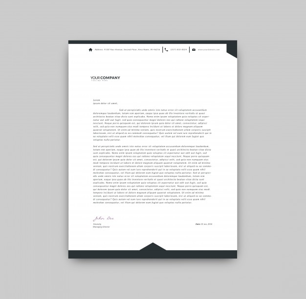 Black And White Letterhead Template