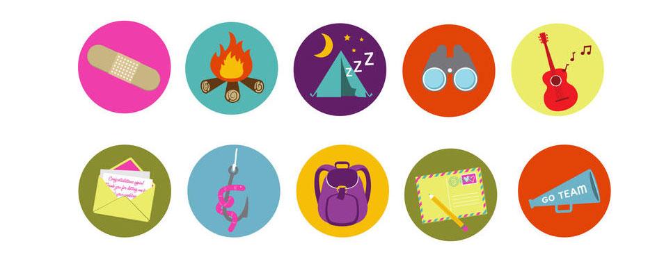 Brand Camp Badge Vectors 2013