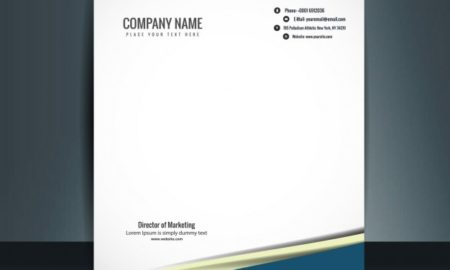 Business Letterhead Free Vector