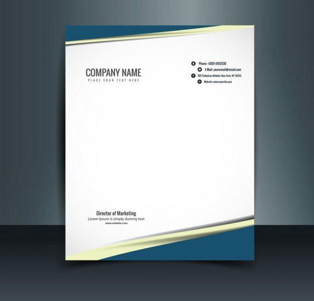 Business Letterhead Free Vector