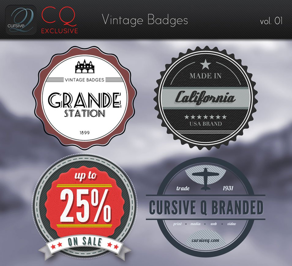 CQ Vintage Badges