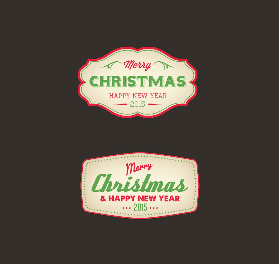 Christmas Badge PSD
