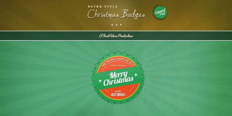 Christmas Badges (Psd)