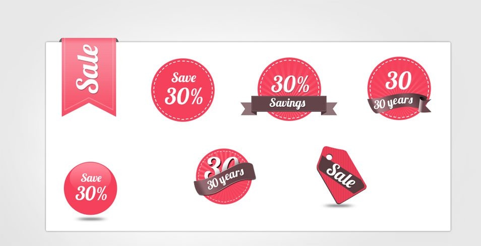 Download Free Sale Badges And Tags Template
