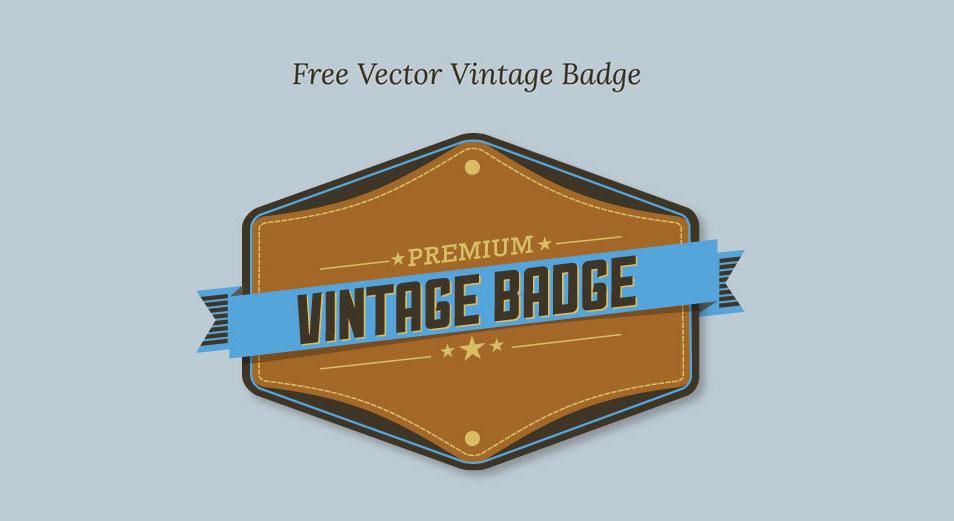 Free Vector Premium Vintage Badge