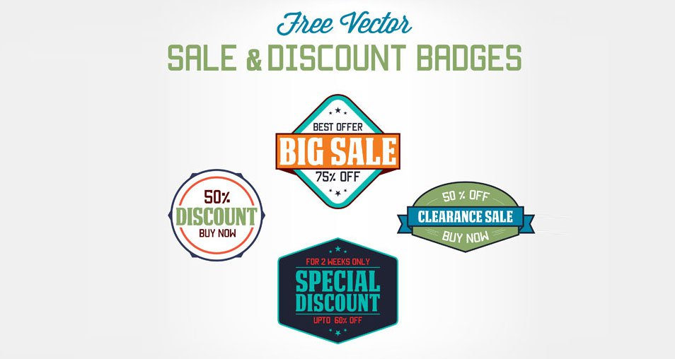Free Vector Sale & Discount Badges