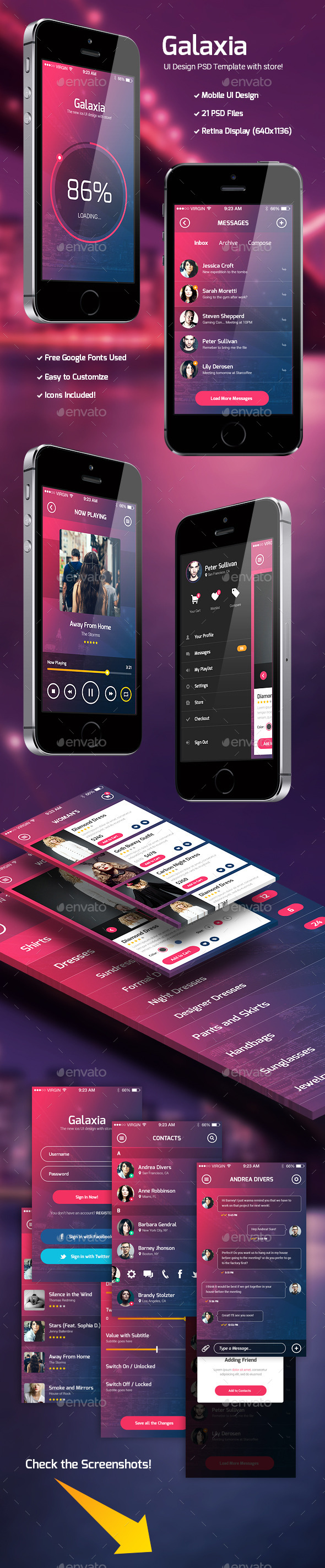 Galaxia – PSD UI Template with Store