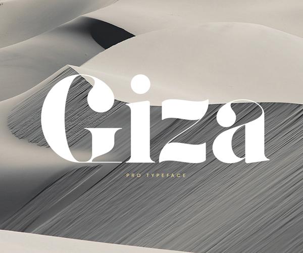 Giza Stencil Free Font