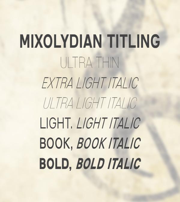 Mixolydian Titling Free Font