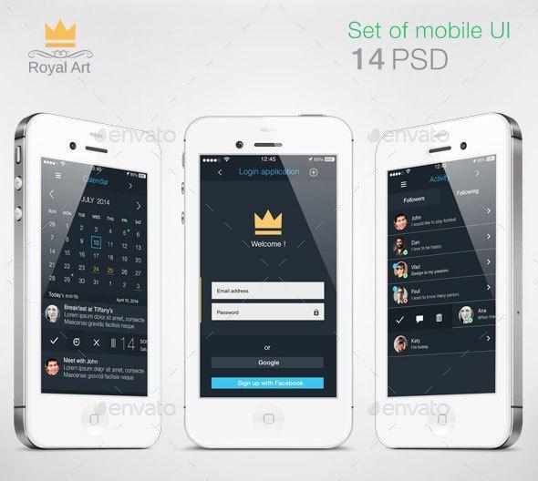 Mobile UI KIT Flat