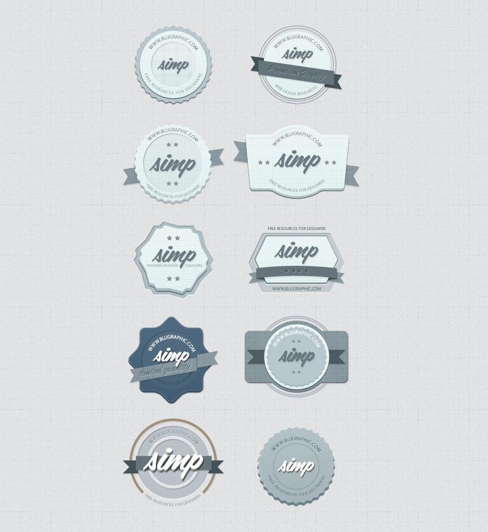 Modern Blue Badges