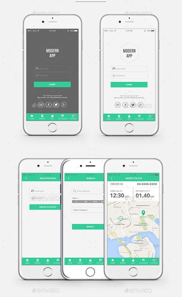 Modern Mobile App UI Kit