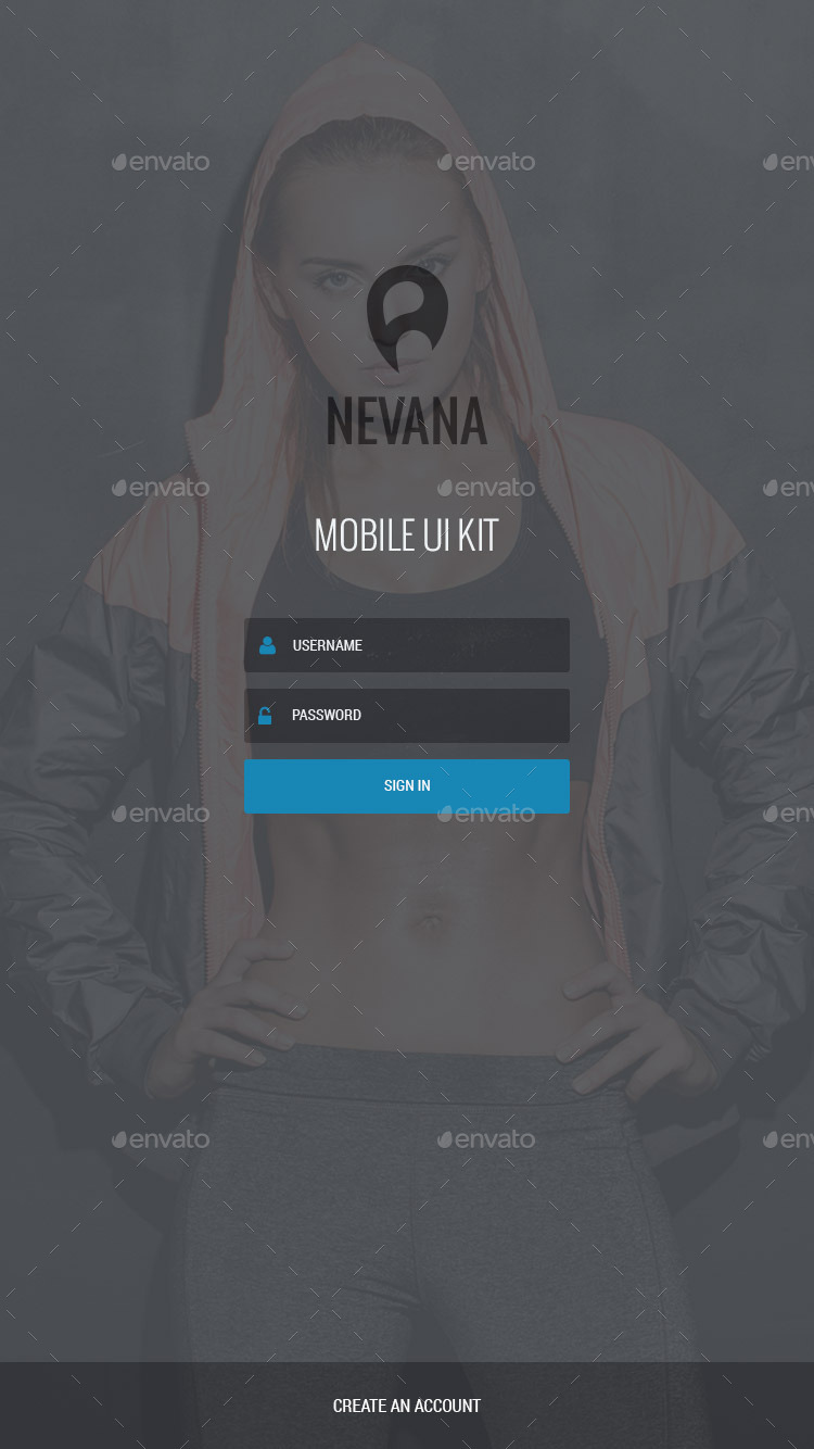 Nevana – Mobile UI Kit