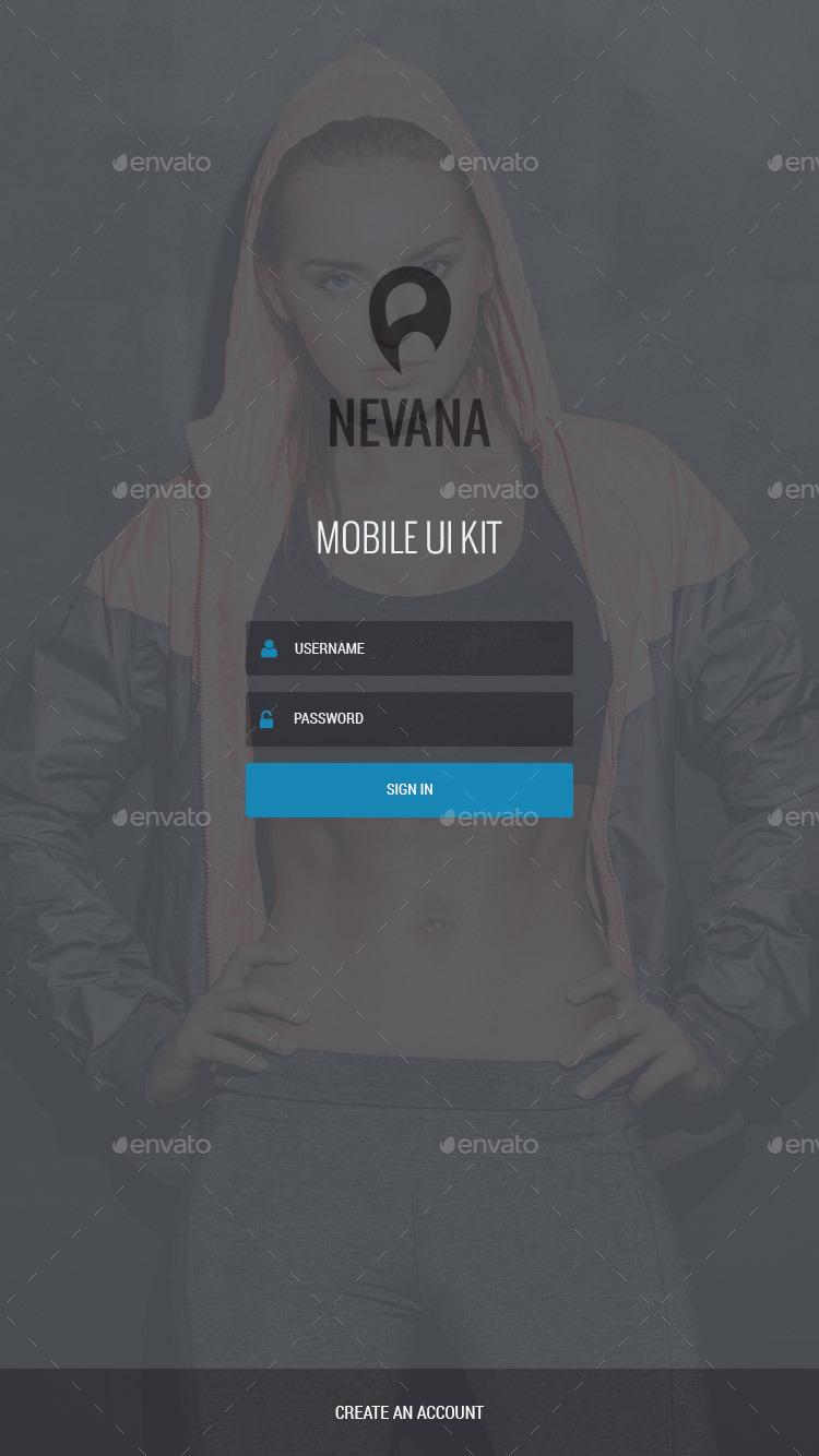 Nevana – Mobile UI Kit