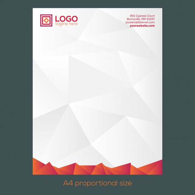 orange-polygonal-letterhead-free-vector