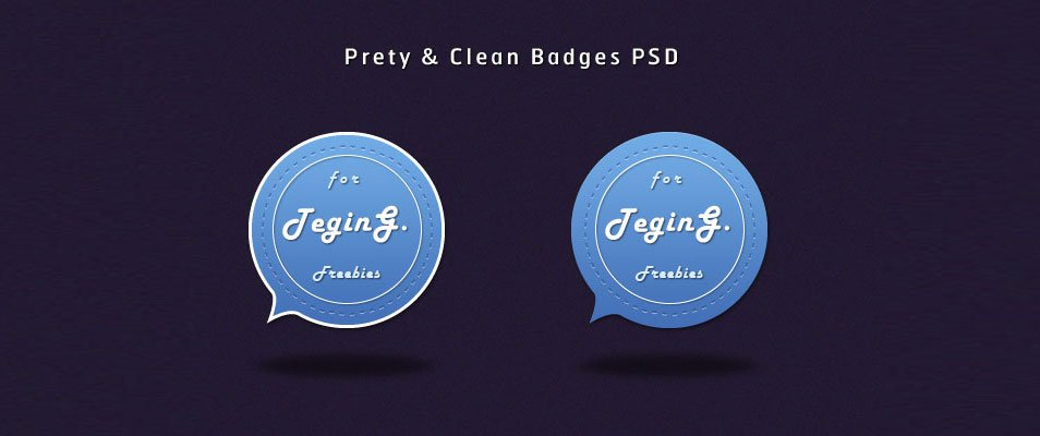 Pretty & Clean Badges (PSD)